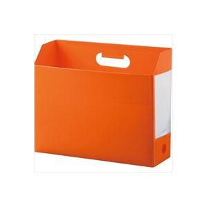 生活用品・インテリア・雑貨 (業務用100セット) セキセイ アドワンボックスF AD-2651-51 オレンジ 【×100セット】