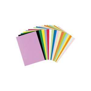 生活用品・インテリア・雑貨 (業務用50セット) リンテック 色画用紙R A4 50枚 ライトイエ 【×50セット】