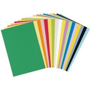 文具・オフィス用品 (業務用200セット) 大王製紙 再生色画用紙 8ツ切 10枚 みかん 【×200セット】