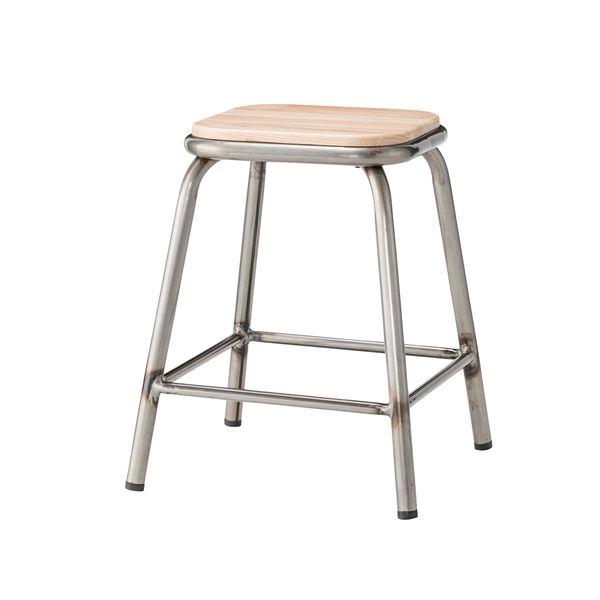 椅子 関連商品 (4脚セット) スツール 天然木(アッシュ) シルバー PC-66SV