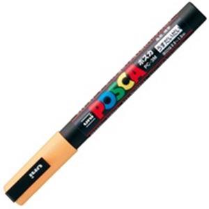 文具・オフィス用品 (業務用200セット) 三菱鉛筆 ポスカ PC-3M.54 細字 うす橙 【×200セット】