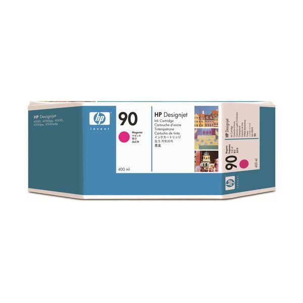 パソコン・周辺機器 PCサプライ・消耗品 インクカートリッジ 関連 (まとめ) HP90 インクカートリッジ マゼンタ 400ml 染料系 C5063A 1個 【×3セット】