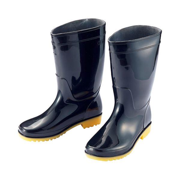 日用品雑貨 (まとめ) アイトス 衛生長靴 25.5cm ブラック AZ-4438-25.5 1足 【×10セット】