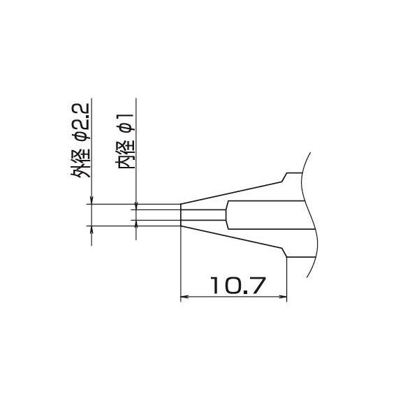 DIY・工具 手動工具 関連 白光 N1-10 FM-2024用ノズル/1.0MM