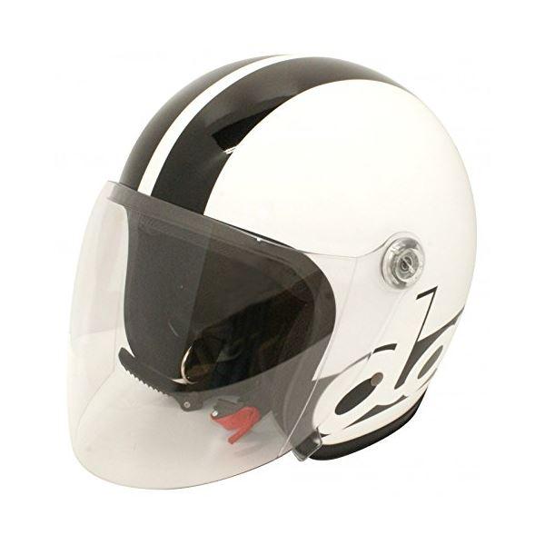 バイク用品 関連商品 ヘルメット JET-S damm&rax WHITE/BLACK mens