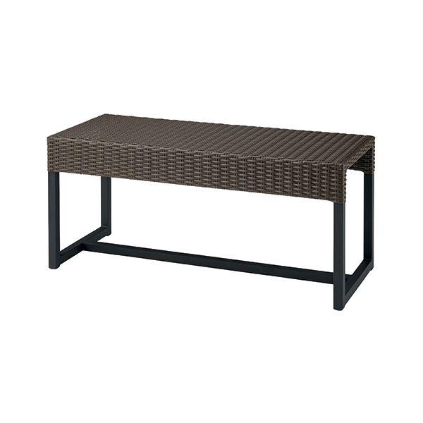 椅子 関連商品 ラタン調ロビーベンチ GW-1445 ブラウン