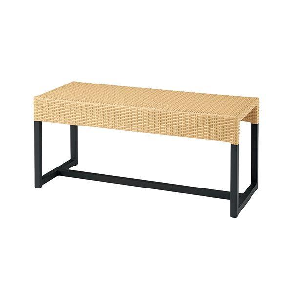 椅子 関連商品 ラタン調ロビーベンチ GW-1445 ベージュ