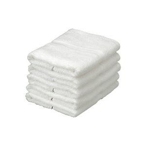 (業務用30セット) オーミケンシ エコフェイスタオル5枚セット ホワイト9511 【×30セット】