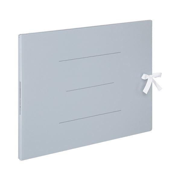(まとめ) コクヨ ガバットファイルS(ストロングタイプ・紙製) A3ヨコ ひも付き 1000枚収容 背幅13~113mm 青 フ-SH948B 1冊 【×5セット】