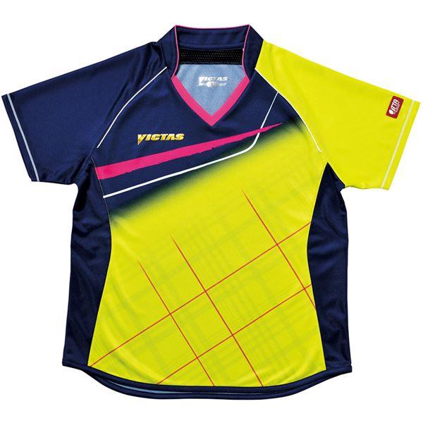 スポーツ・アウトドア 卓球 関連 ヤマト卓球 VICTAS(ヴィクタス) 卓球アパレル V-LS037 Viscotecs ゲームシャツ(女子用) 031460 ライム Lサイズ