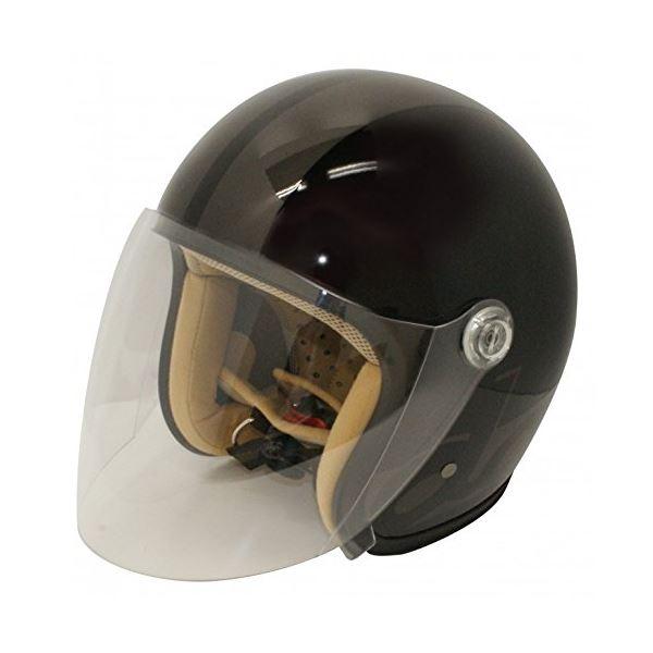 バイク用品 関連商品 ヘルメット JET-S damm&rax BLACK/GUNMETA ladys