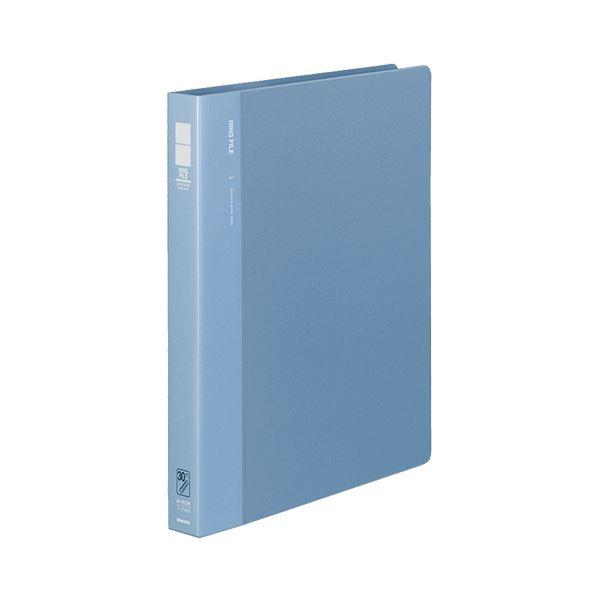 (まとめ) コクヨ リングファイル 発泡PP表紙 A4タテ 30穴 170枚収容 背幅33mm 青 フ-F470B 1冊 【×5セット】