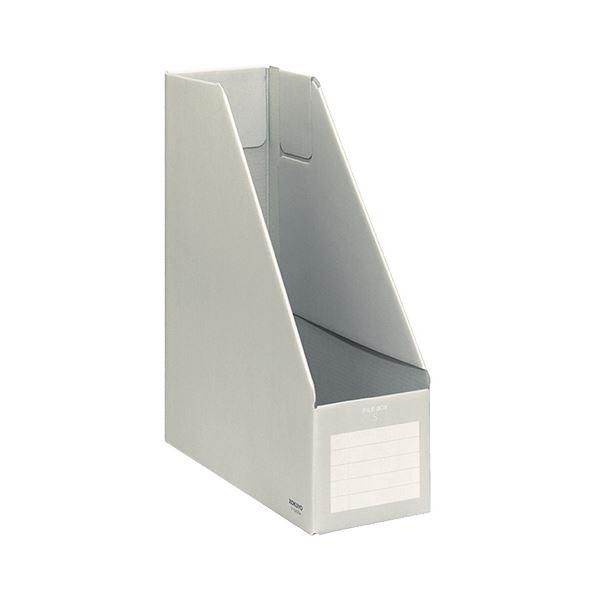 収納用品 マガジンボックス・ファイルボックス 関連 (まとめ) コクヨ ファイルボックスS A4タテ 背幅102mm グレー フ-E450M 1冊 【×20セット】