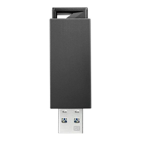 生活日用品 アイ・オー・データ機器 USB3.0/2.0対応 ノック式USBメモリー 32GB ブラック U3-PSH32G/K