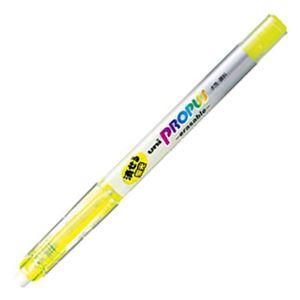 文房具・事務用品 筆記具 関連 (まとめ) 三菱鉛筆 蛍光ペン プロパス・イレイサブル 黄 PUS151ER.2 1本 【×40セット】