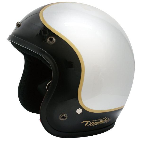 バイク用品 関連商品 ヘルメット JET-D COMMA BLACK/SILVER