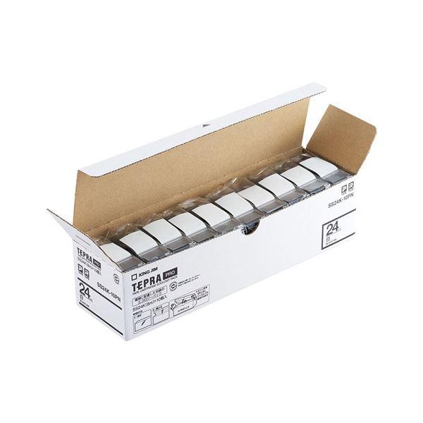 文具・オフィス用品関連商品 キングジム PROテープ エコパック 白ラベル 24mm 10個入 SS24K-10PN