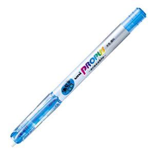文房具・事務用品 筆記具 関連 (まとめ) 三菱鉛筆 蛍光ペン プロパス・イレイサブル 空色 PUS151ER.48 1本 【×40セット】