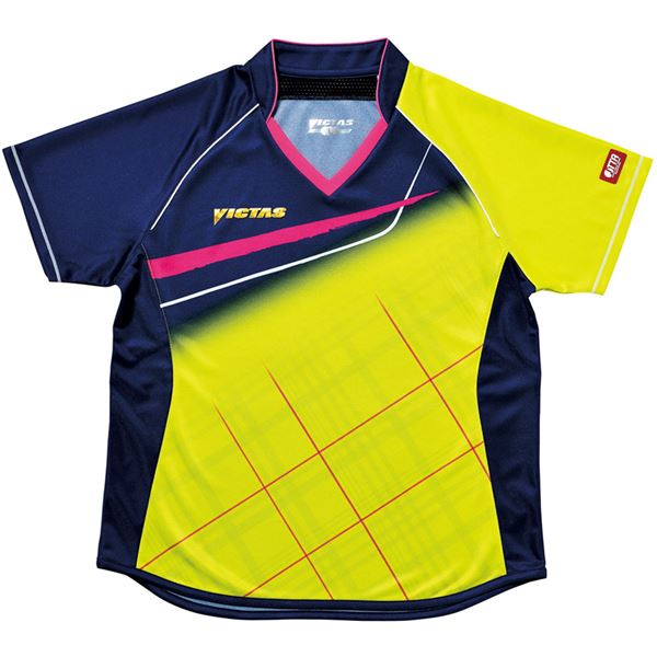 スポーツ・アウトドア 卓球 関連 ヤマト卓球 VICTAS(ヴィクタス) 卓球アパレル V-LS037 Viscotecs ゲームシャツ(女子用) 031460 ライム XOサイズ