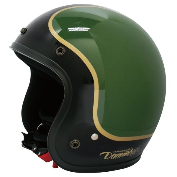 バイク用品 関連商品 ヘルメット JET-D COMMA BLACK/GREEN