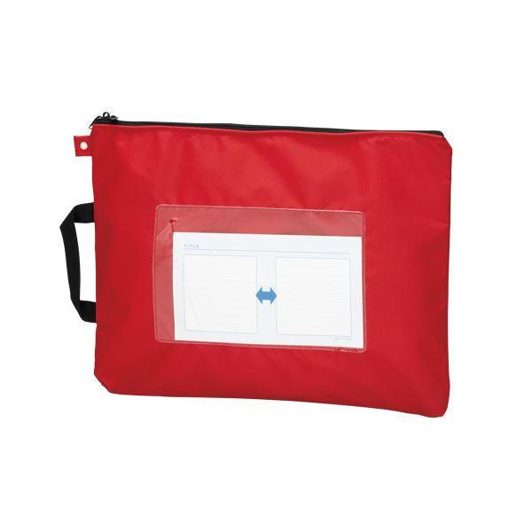 文具・オフィス用品 (業務用セット) メールバッグ B4短辺取っ手付 CR-ME05-R レッド 1個入 【×3セット】