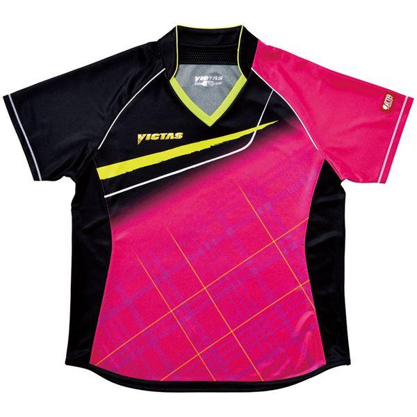 スポーツ・アウトドア 卓球 関連 ヤマト卓球 VICTAS(ヴィクタス) 卓球アパレル V-LS037 Viscotecs ゲームシャツ(女子用) 031460 ピンク Lサイズ