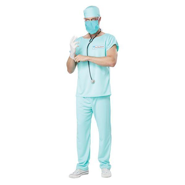 パーティー・イベント用品 関連 コスプレ衣装/コスチューム California Costumes DR. BLOODBATH / ADULT 【シャツ・パンツ・キャップ・聴診器・サージカルマスク・ハーフマスク】