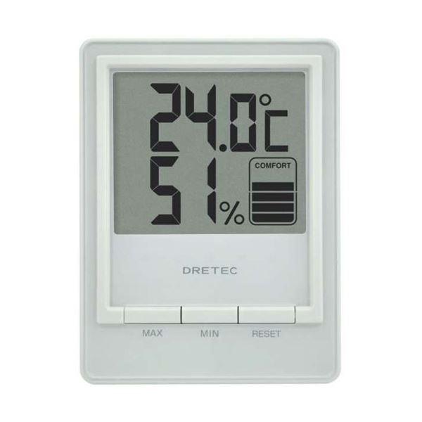 生活 雑貨 通販 (まとめ)DRETEC 快適度を5段階で表示 見やすい大画面表示の温湿度計 デジタル温湿度計 スタシス ホワイト O-233WT【×3セット】