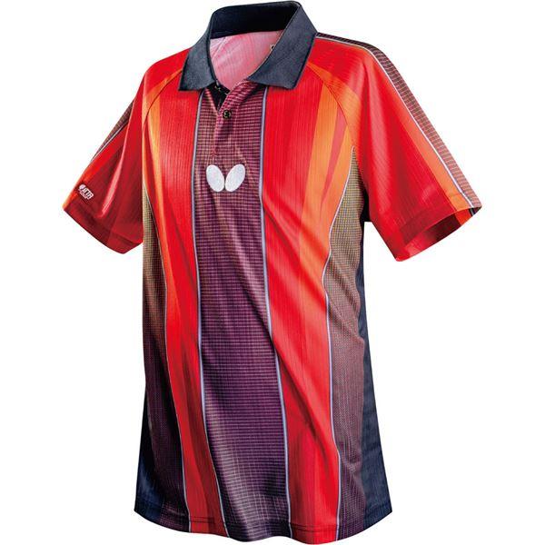 スポーツ用品・スポーツウェア関連商品 卓球アパレル FLEBAL SHIRT(フレバル・シャツ)男女兼用 45260 レッド O