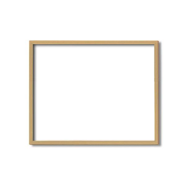 絵画 関連商品 【額縁・絵画額・水彩額】壁掛けひも・アクリル付 ■5767デッサン額(木地) 三三サイズ(606×455mm)