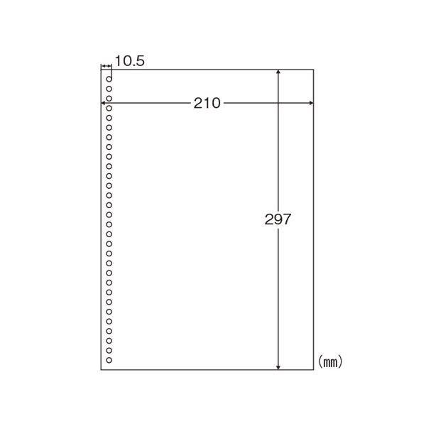 生活用品関連 マルチプリンタ帳票 A4 白紙 30穴 BPE2049