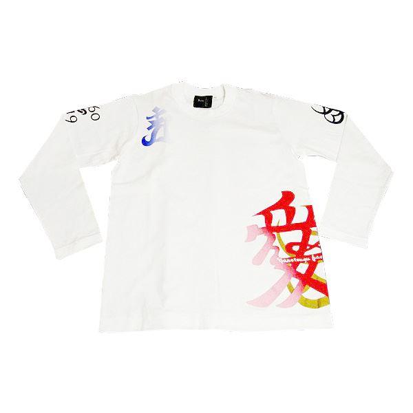 メンズファッション トップス Tシャツ・カットソー 関連 愛・直江兼続 長Tシャツ 楽 XS 白