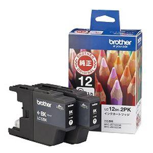 (業務用セット) ブラザー インクジェットカートリッジ LC12BK-2PK ブラック 2個パック 2個入 【×3セット】