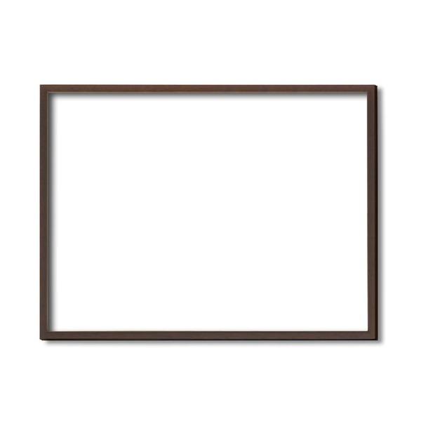 絵画 関連商品 【額縁・絵画額・水彩額】壁掛けひも・アクリル付 ■5767デッサン額(ブラウン) 小全紙サイズ(660×510mm)