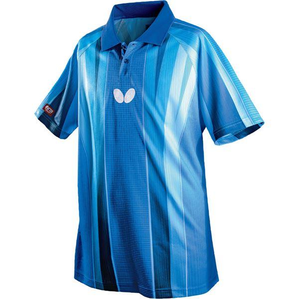 スポーツ用品・スポーツウェア関連商品 卓球アパレル FLEBAL SHIRT(フレバル・シャツ)男女兼用 45260 ブルー 3S