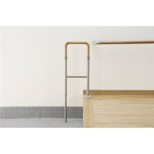 インテリア・家具 アロン化成 上がりかまち用手すり 上がりかまち用手すり(1)KM-300LライトBR 531-084