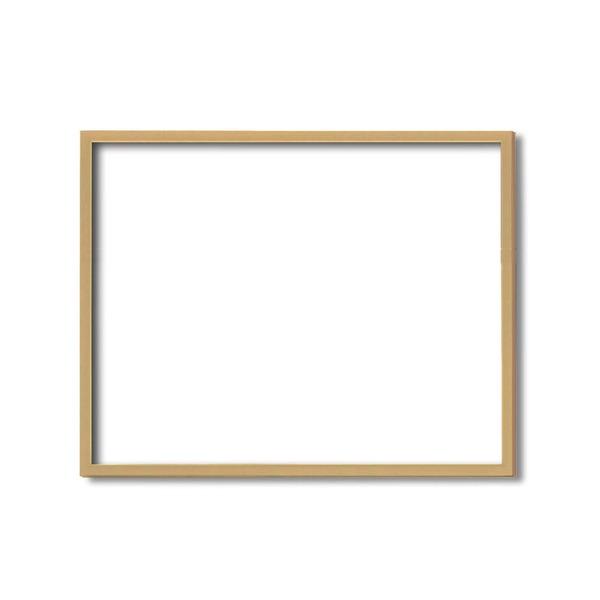 【額縁・絵画額・水彩額】壁掛けひも・アクリル付 ■5767デッサン額(木地) 小全紙サイズ(660×510mm)