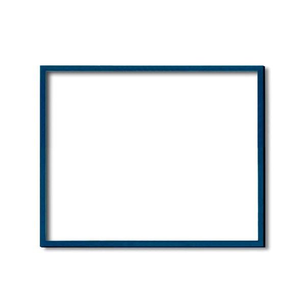 【額縁・絵画額・水彩額】壁掛けひも・アクリル付 ■5767デッサン額(ブルー) 小全紙サイズ(660×510mm)