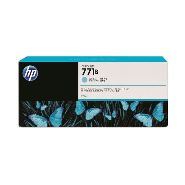 パソコン・周辺機器 (まとめ) HP771B インクカートリッジ ライトシアン 775ml 顔料系 B6Y04A 1個 【×3セット】
