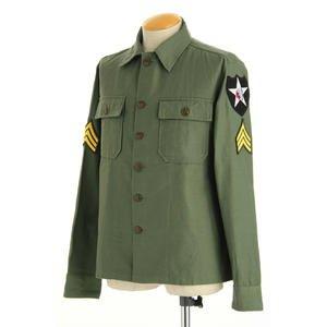 米軍 OG-107 ファティーグシャツ 長袖 JS086YNJR 16 1/2サイズ(XL)【レプリカ】