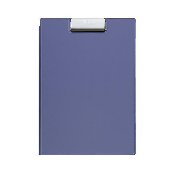 文具・オフィス用品 (まとめ) コクヨ クリップホルダー カバー付用箋挟 A4 青 ヨハ-50NB 1枚 【×5セット】