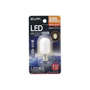 電球 (業務用80セット) 朝日電器 ELPA 電球形LEDランプ ナツメ型LDT1L-G-E12-G101 【×80セット】
