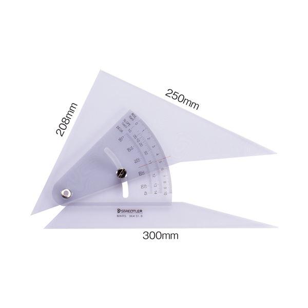 文具・オフィス用品 (まとめ) ステッドラー マルス 勾配三角定規 25cm 964 51-10 1個 【×2セット】