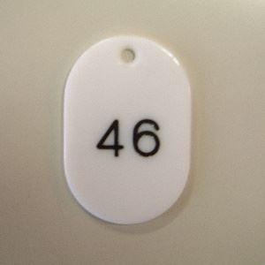 (業務用セット) 番号札 小判型・スチロール製 番号入(連番) CR-BG31-W 白 入 【×2セット】