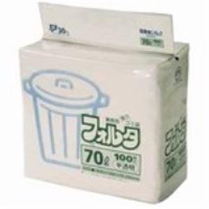 掃除用具 関連 (業務用20セット) 日本サニパック フォルタ・環優包装F-7H 半透明 70L 100枚 【×20セット】