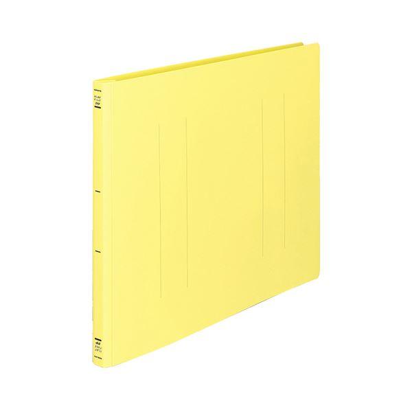 文具・オフィス用品 (まとめ) コクヨ フラットファイル(PP) A3ヨコ 150枚収容 背幅20mm 黄 フ-H48Y 1セット(10冊) 【×2セット】