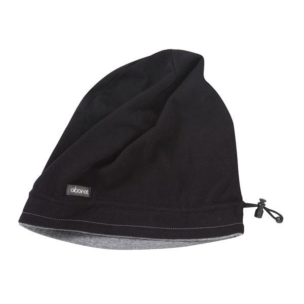 健康器具 (まとめ)特殊衣料 生活支援 abonetソフト スムースキャップ5 ブラック×グレー 2058【×5セット】