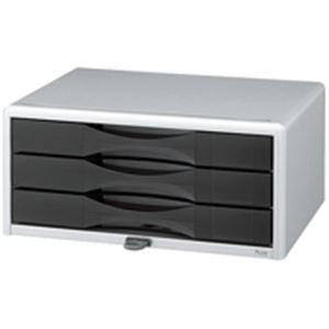 インテリア・寝具・収納 オフィス家具 関連 (業務用3セット) プラス 鍵付レターケース LC-203JK SI 【×3セット】