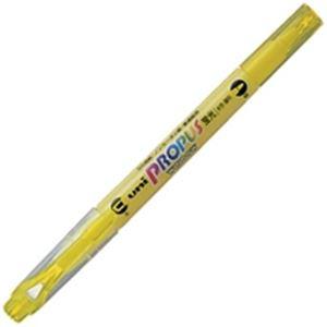 文房具・事務用品 筆記具 関連 (業務用300セット) 三菱鉛筆 プロパスウインドウ PUS-102T 黄 【×300セット】