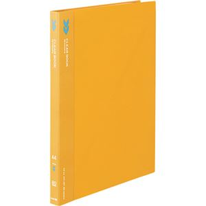 (まとめ) コクヨ クリヤーブック(クリアブック)(K2)固定式 A4タテ 20ポケット 背幅18mm 中紙なし オレンジ K2ラ-K20YR 1冊 【×20セット】